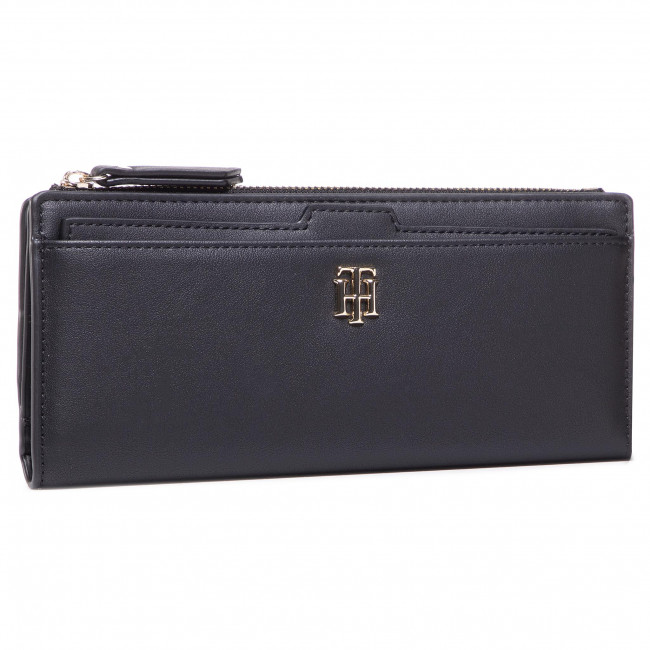 Duży Portfel Damski TOMMY HILFIGER - Th Seasonal Slim Wallet AW0AW08917 0GJ