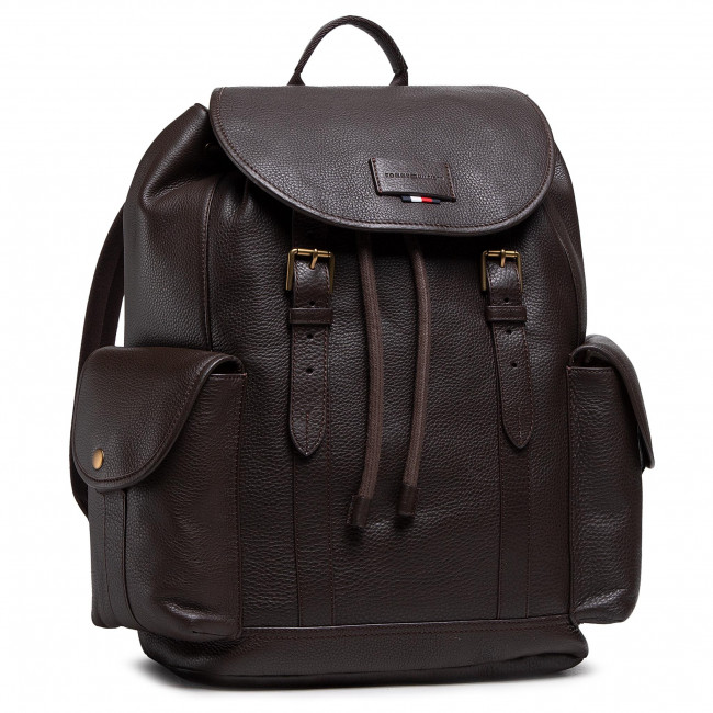 Plecak TOMMY HILFIGER - Casual Leather Flap Backpack AM0AM06844 GE4