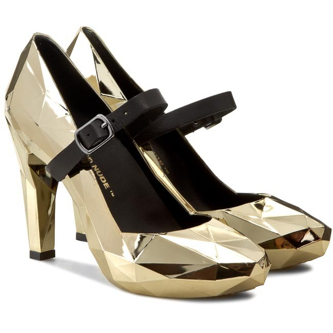 Półbuty UNITED NUDE - Lo Res Pump 100292221 Gold Chrome