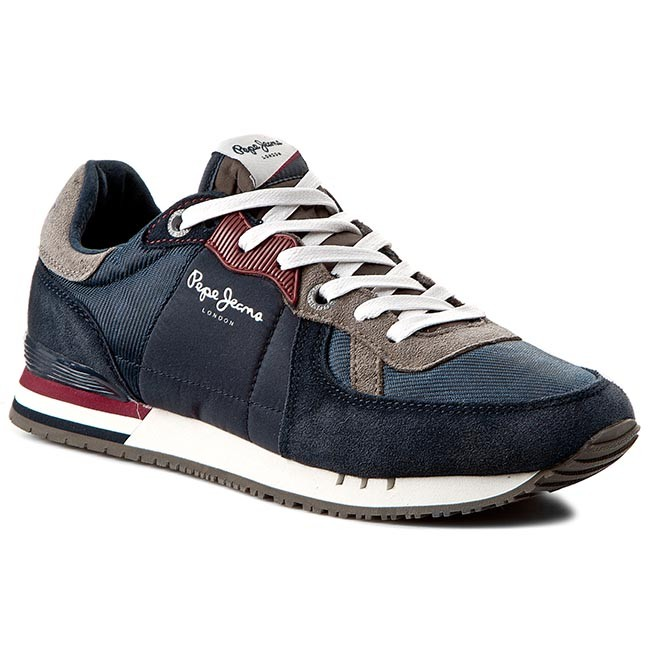 Sneakersy PEPE JEANS - Tinker Basic PMS30147 Marine 585 ... Caterpillar Shoes