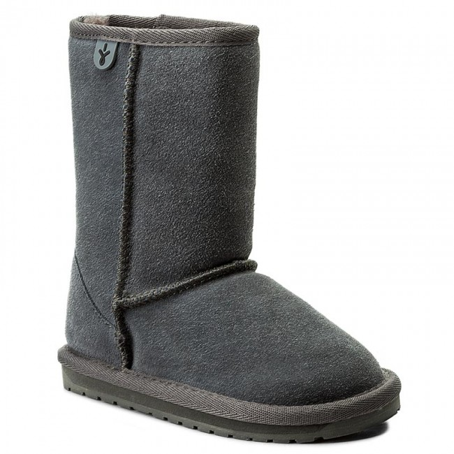 Buty EMU AUSTRALIA - Wallaby Lo K10102 Charcoal/Anthracite