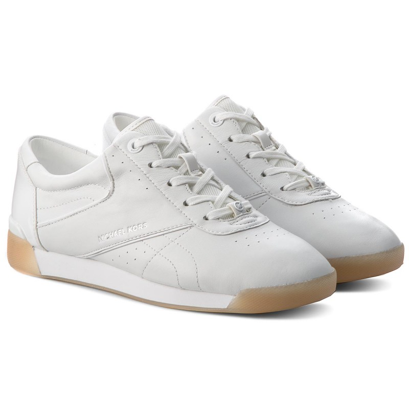 Sneakersy MICHAEL MICHAEL KORS - Addie Lace Up 43T8AEFS2L Optic White - Sneakersy - Półbuty - Damskie
