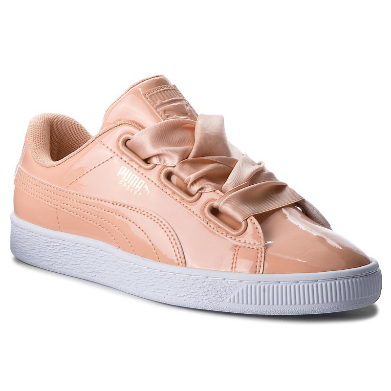 Sneakersy PUMA - Basket Heart Patent 363073 16 Dusty Coral/Dusty Coral - Sneakersy - Półbuty - Damskie