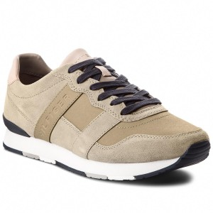db59d299a167a Sneakersy TOMMY HILFIGER - City Casual Material Mix Runner FM0FM01624 Taupe  255