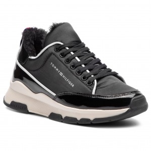 097e90cc47c8d Sneakersy TOMMY HILFIGER - Cool Technical Satin Sneaker FW0FW03970 Black 990
