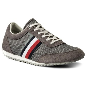 7cfefb68 Sneakersy TOMMY HILFIGER - Corporate Material Mix Runner FM0FM01314 Steel  Grey 039