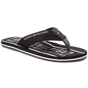 7b3f17f54414ef ... Japonki TOMMY HILFIGER - Smart Th Beach Sandal FM0FM01371 Black 990  most popular 78489 1c405 ...