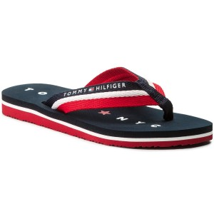 7aa6e6a61fc08 Japonki TOMMY HILFIGER - Tommy Loves Ny Beach Sandal FW0FW02370 Midnight 403