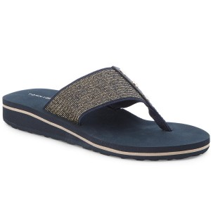 2b9acde97c2cbe Japonki TOMMY HILFIGER - Elevated Metallic Beach Sandal FW0FW02393 Midnight  403