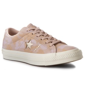 Tenisówki CONVERSE One Star Ox 159705C Particle Beige Light Gold 18c0e468044