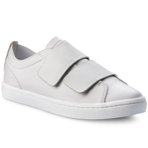 4a67b264d Sneakersy LACOSTE - Straightset Strap 118 1 Caw 7-35CAW00712Q5 Lt Gry/Wht