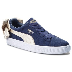 Снікерcи PUMA - Suede Bow Varsity Wn s 367732 02 Peacoat Metallic Gold 19a722a458