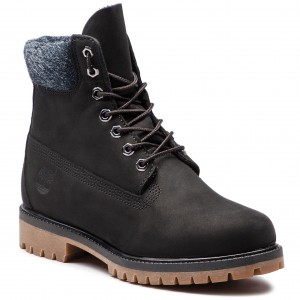 Trapery TIMBERLAND - Premium 6 In Waterproof Boot TB0A1UEJ0011 Black Nubuck ab5facfb30