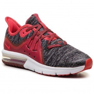 low priced e7b2b 17e41 Buty NIKE - Air Max Sequent 3 (GS) 922884 009 Black University Red