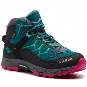 b6e3d602 Trekkingi SALEWA Alp Trainer Mid Gtx GORE-TEX 64006-8632 Shaded Spruce/Rose  Red