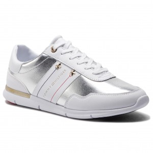5a063b850a49a Sneakersy TOMMY HILFIGER - Tommy Essential Leather Sneaker FW0FW03688 White  100