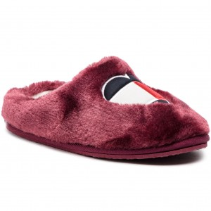 979face3acb2d Kapcie TOMMY HILFIGER - Love Tommy Home Slipper FW0FW04180 Decadent  Chocolate 295