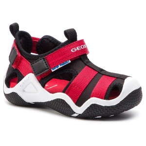 63b6e655c2c0b Sandały GEOX - J Wader A J9230A 01554 C0048 M Black Red