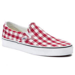 Vans Shoes Classic Slip On (Checkerboard) Posion Flower
