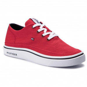 612caec432 Sneakersy TOMMY HILFIGER Lightweight Textile Sneaker FM0FM02059 Tango Red  611