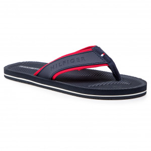 d718ac87f5185 Japonki TOMMY HILFIGER - Moulded Footbed Beach Sandal FM0FM02086 Midnight  403