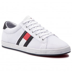 0bb4d397c826d Sneakersy TOMMY HILFIGER - Essential Flag Detail Sneaker FM0FM02202 White  100