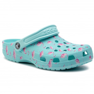 4edfc1c3bf401 Klapki CROCS - Classic Seasonal Graphic Clog 205706 Ice Blue/Pink