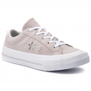 d93d8fbe89a37 Tenisówki CONVERSE One Star Ox 663589C Mouse/Mouse/White