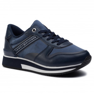 0fa938f54 Sneakersy TOMMY HILFIGER - Mixed Active City Sneaker FW0FW04177 Tommy Navy  406
