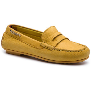 7354067c42aaf Mokasyny TOMMY HILFIGER - Colorful Tommy Moccasin FW0FW04398 Spectra Yellow  730