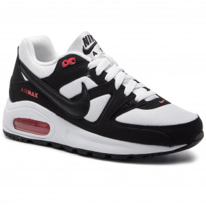 new style b5335 97bd6 Buty NIKE Air Max Command Flex (GS) 844346 100 White Black Max Orange