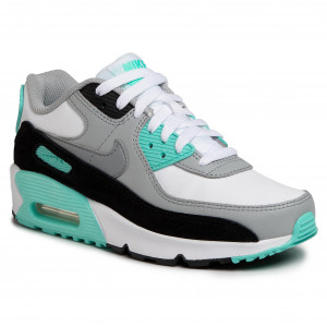 Nike NIKE Air Max 90 sneakers Lady's AIR MAX 90 LEATHER GS black black 833,412 024