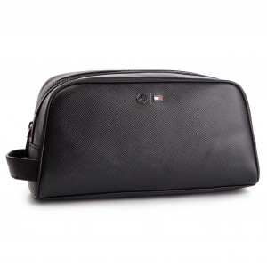 e522fbac74555 Kosmetyczka TOMMY HILFIGER - Mb Capsule Leather Washbag AM0AM04568 002