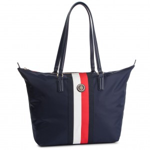 81210ca86 Torebka TOMMY HILFIGER - Th Logo Tape Tote AW0AW04959 413 ...