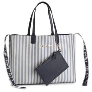 3403252ae0312 Torebka TOMMY HILFIGER - Iconic Tommy Tote Glitter AW0AW06910 901